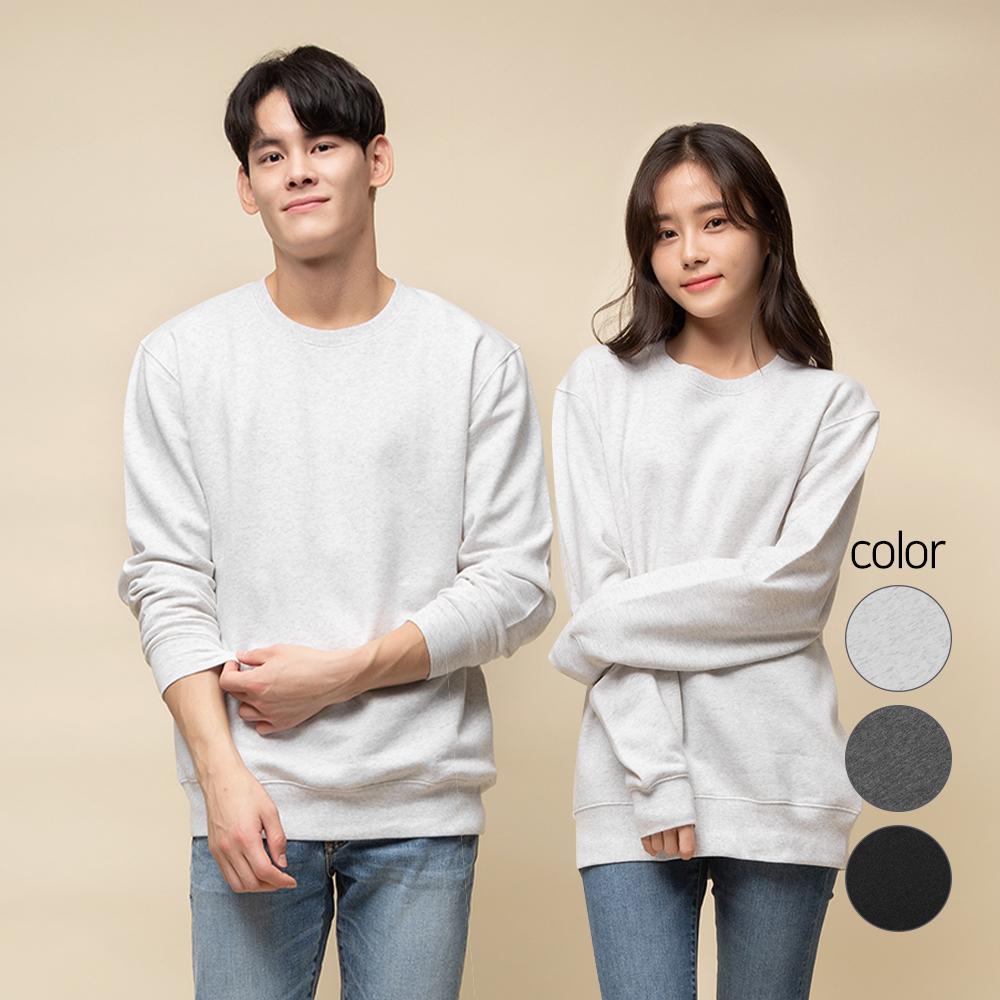 캐럿 남녀공용 릴렉스핏 라이트 플리스 맨투맨 티셔츠
