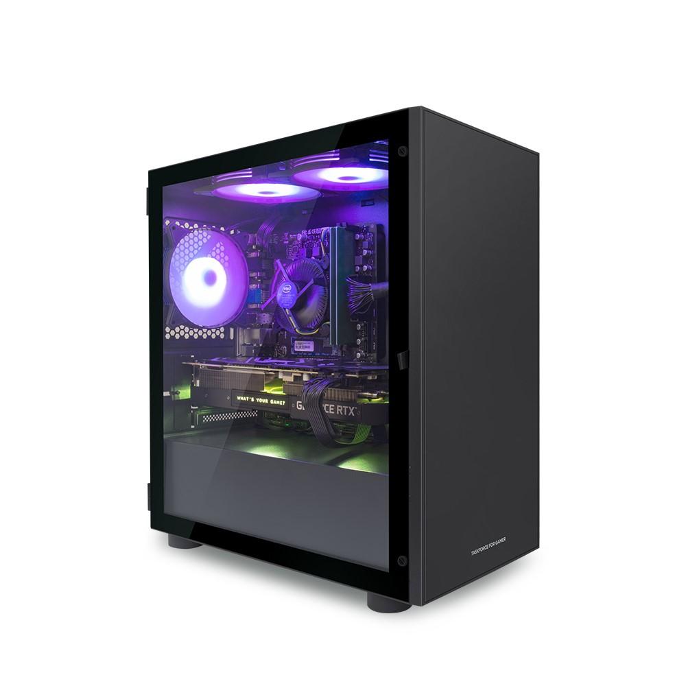 한성컴퓨터 게이밍 데스크탑 블랙 TFG MX3365 (라이젠3 3300X WIN미포함 RAM 8GB SSD 240GB GTX1650 SUPER)