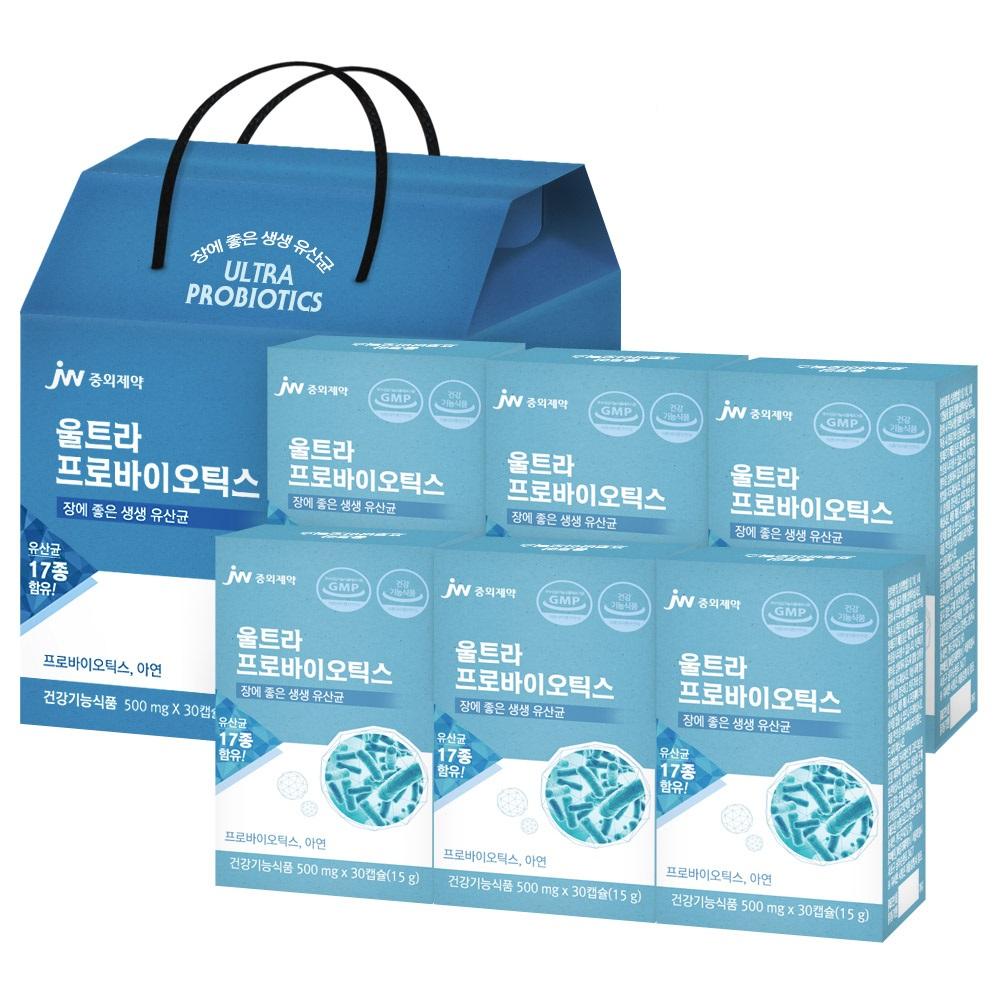 중외제약 울트라 프로바이오틱스 선물세트, 30개입, 6개