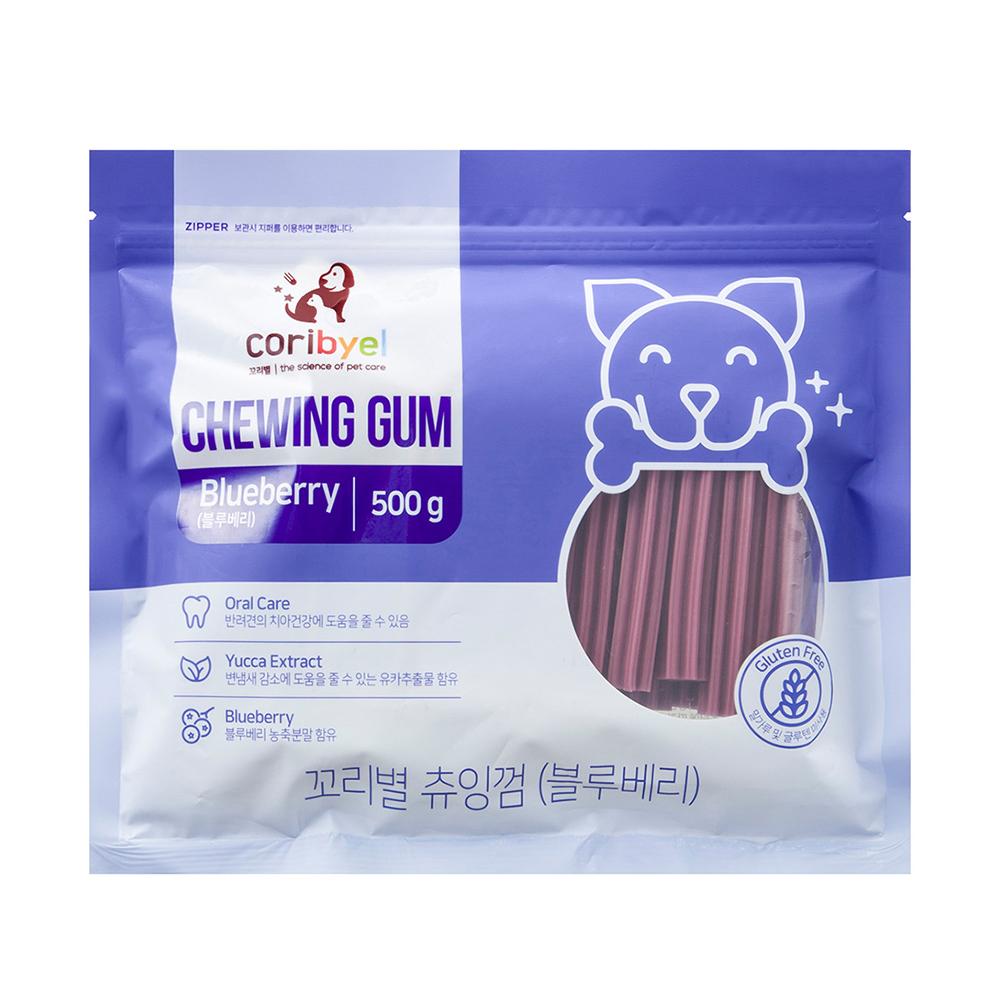 꼬리별 강아지 츄잉껌 500g, 블루베리맛, 1개