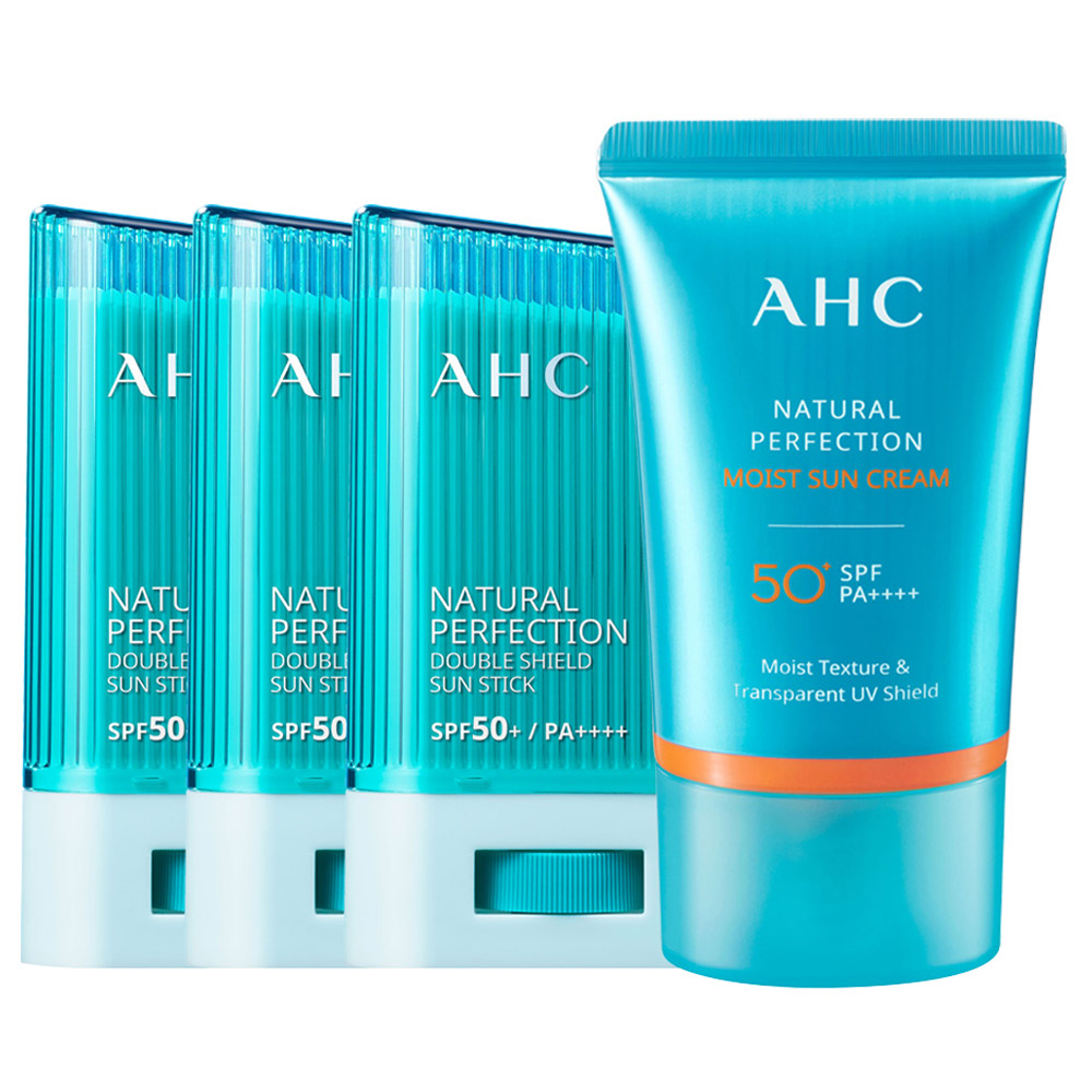 AHC 더블쉴드 선스틱 SPF50+ PA++++ 14g x 3p + 선크림 50ml 세트, 1세트