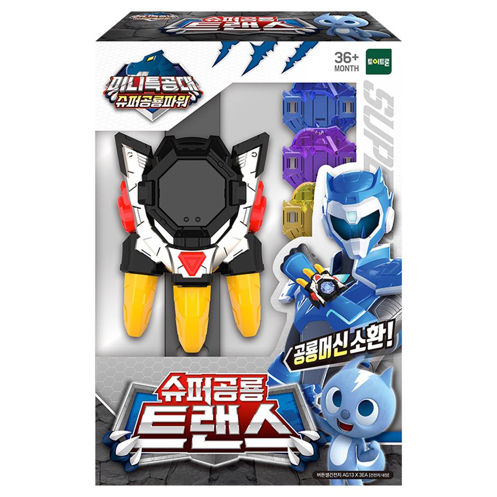 미니특공대 슈퍼공룡파워 슈퍼공룡트랜스 로봇장난감, 혼합색상