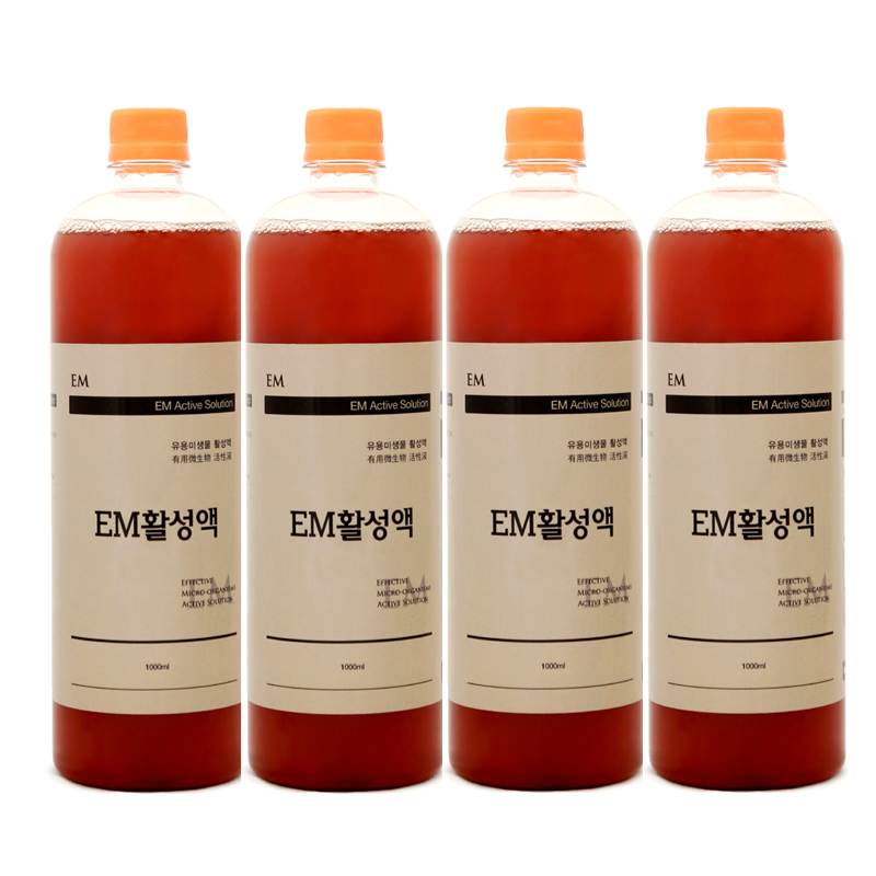 이엠그린 EM활성액 본품, 1L, 4개