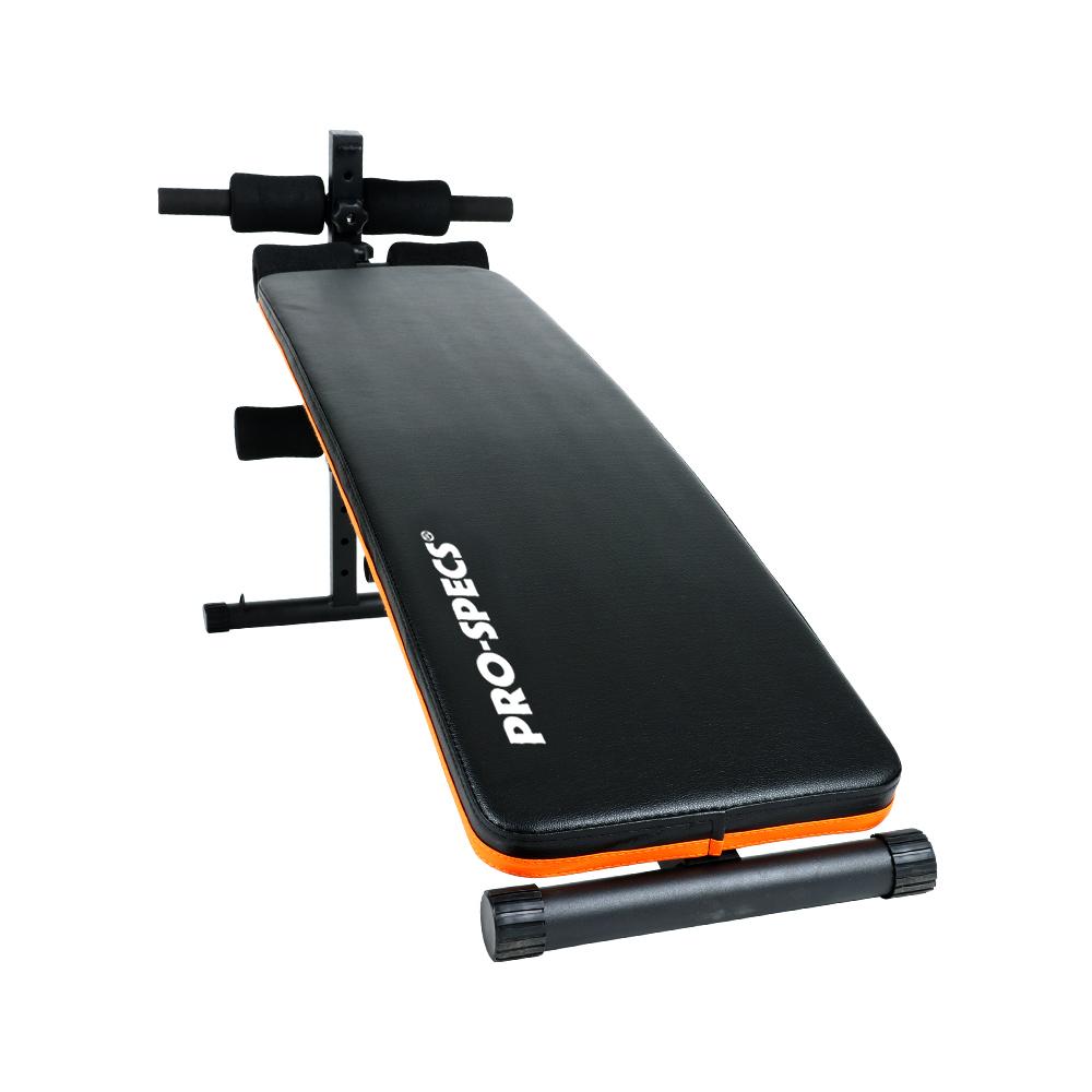 프로스펙스 복근운동 스탠다드 싯업벤치, 오렌지 + 블랙