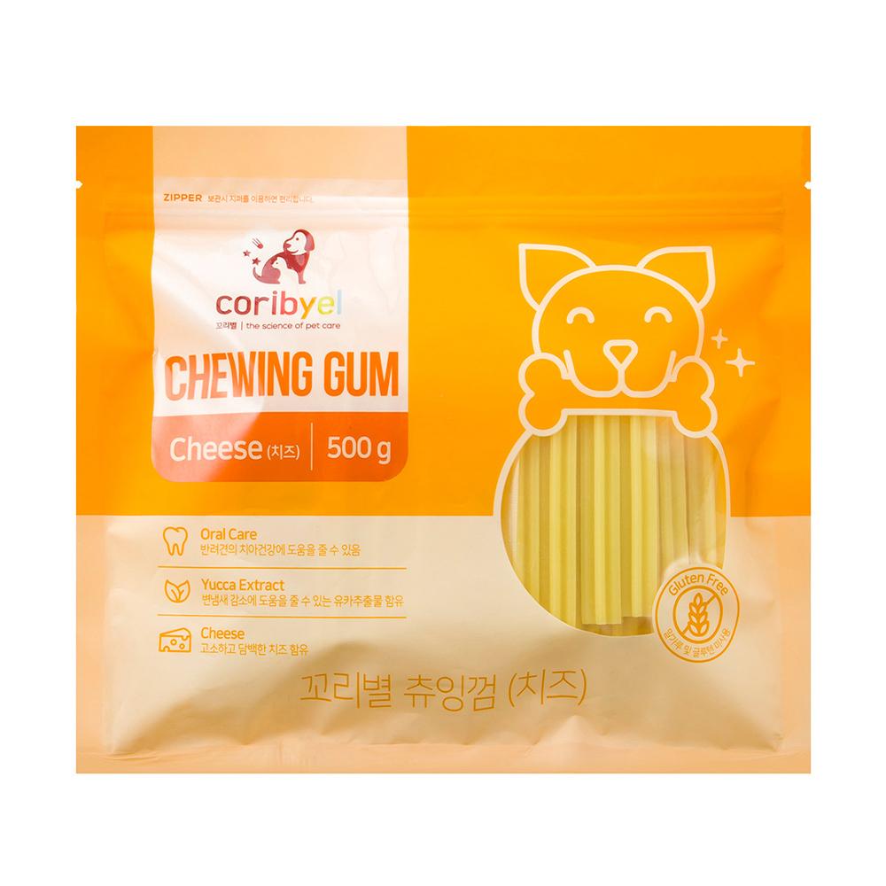 쿠팡 브랜드 - 꼬리별 강아지 츄잉껌 500g, 치즈맛, 1개