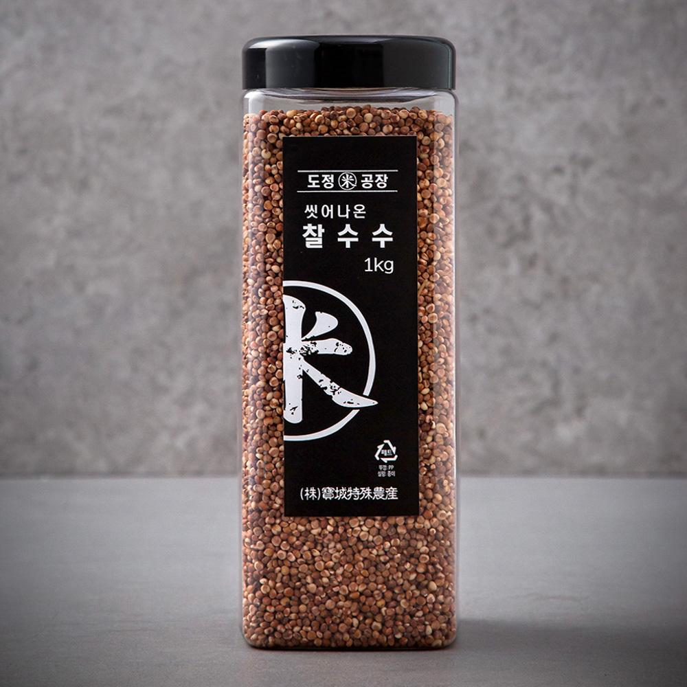 도정공장 씻어나온 찰수수, 1kg, 1통