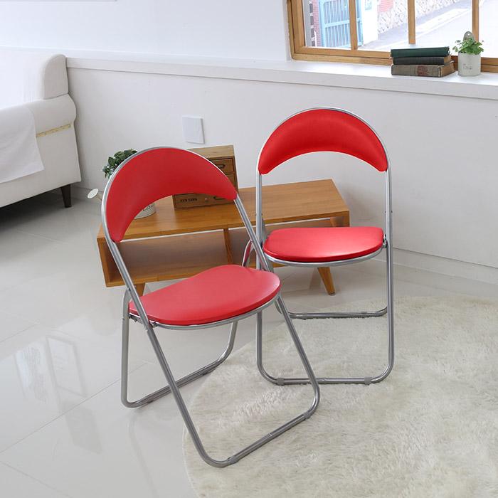 오에이데스크 반달 의자 2p, 레드