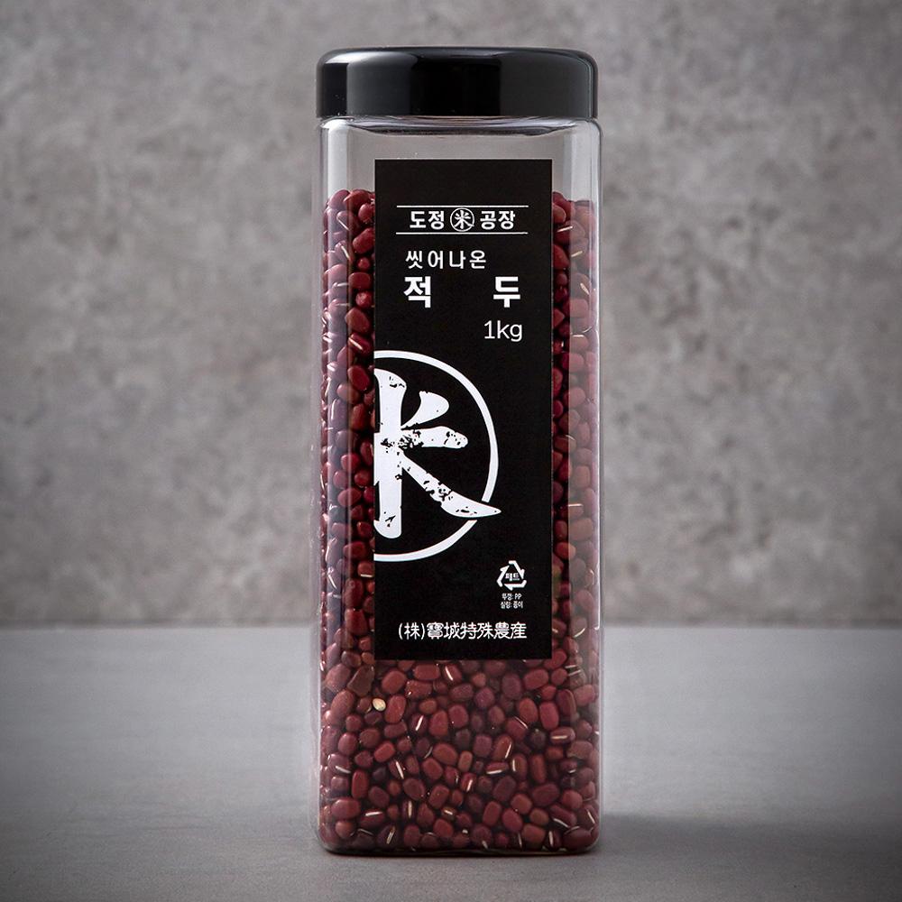 도정공장 씻어나온 적두, 1kg, 1통