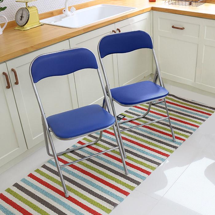 오에이데스크 사각 의자 M 2p, 블루