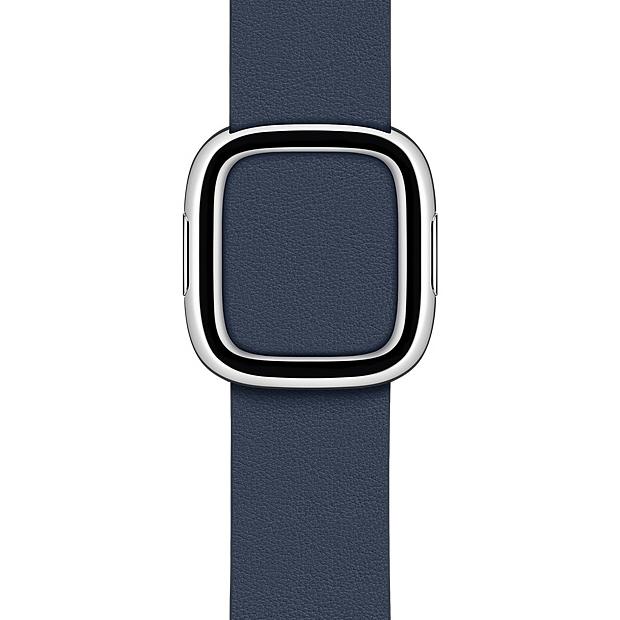 Apple 정품 애플워치 3/6/SE 모던 버클 밴드, 38/40mm, Deep Sea Blue