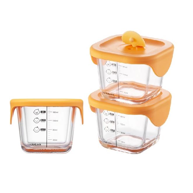 [Gold box] 락앤락 바로한끼 더 커진 이유식 보관용기 ORG LLG519S3, 오렌지, 3개 - 랭킹6위 (14020원)