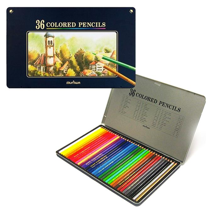 문화 틴케이스 고급 색연필, 36색