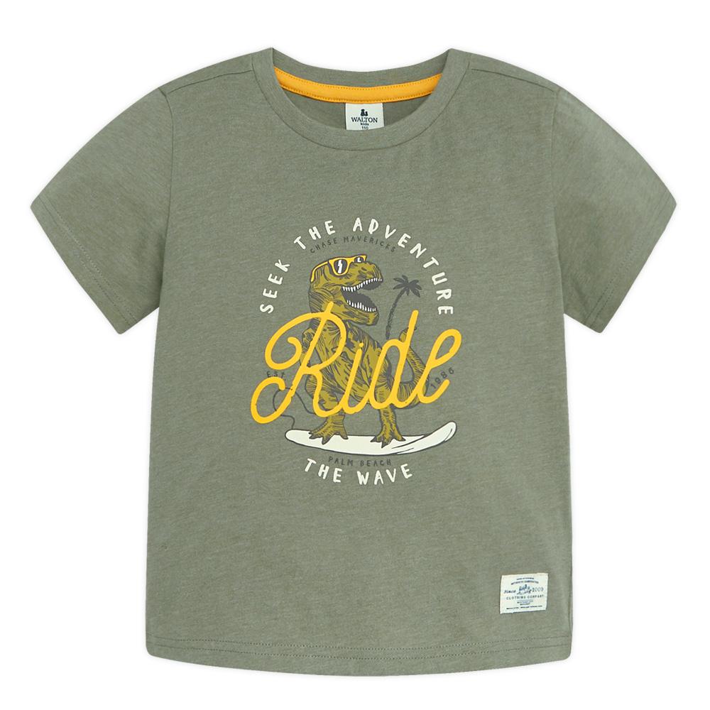 [남아패션 (3세 이상)] 월튼키즈 아동용 서핑다이노 티셔츠 - 랭킹44위 (5500원)