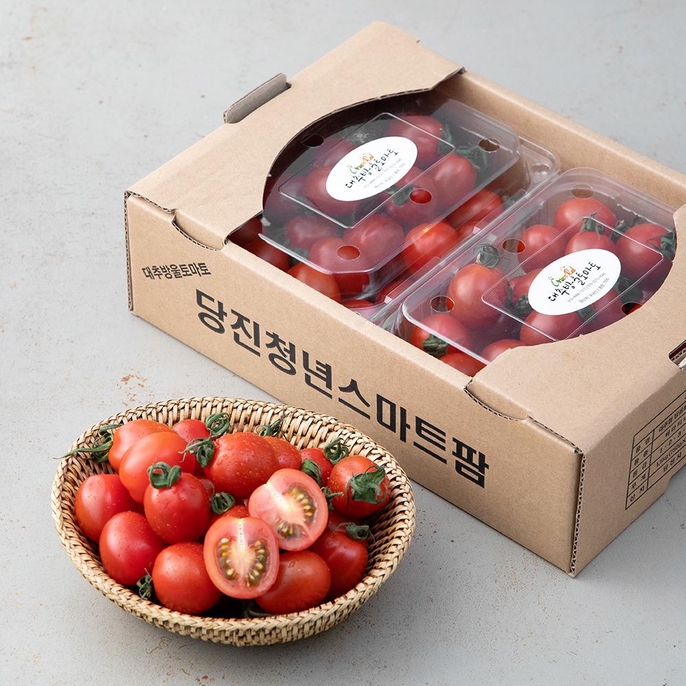 당진 스마트팜 청년농부 대추방울토마토, 750g, 2팩