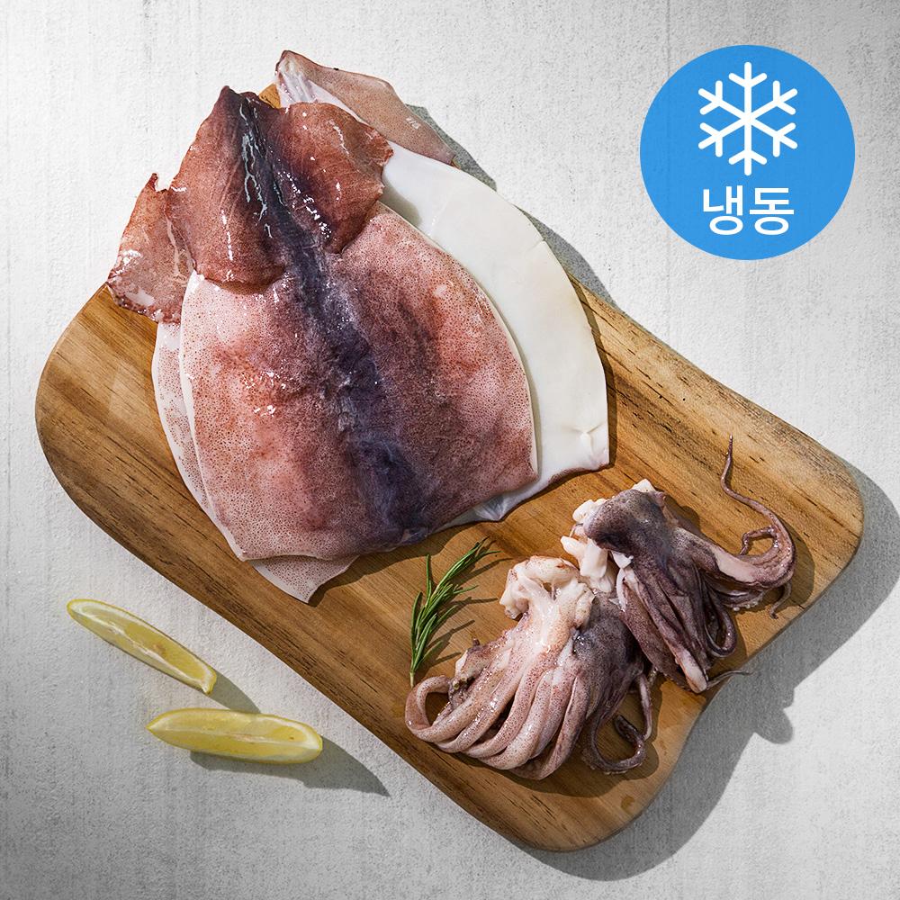 국산 선동 손질 오징어 (냉동), 1kg, 1개