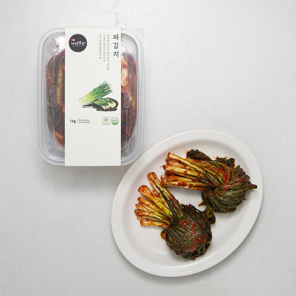 [밥상 김치] 나래밥상 파김치, 1kg, 1개 - 랭킹6위 (16900원)