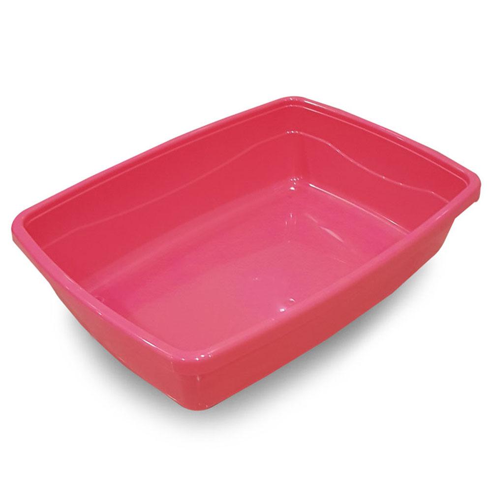 SJ 고양이 초대형 평판형 화장실, 핑크