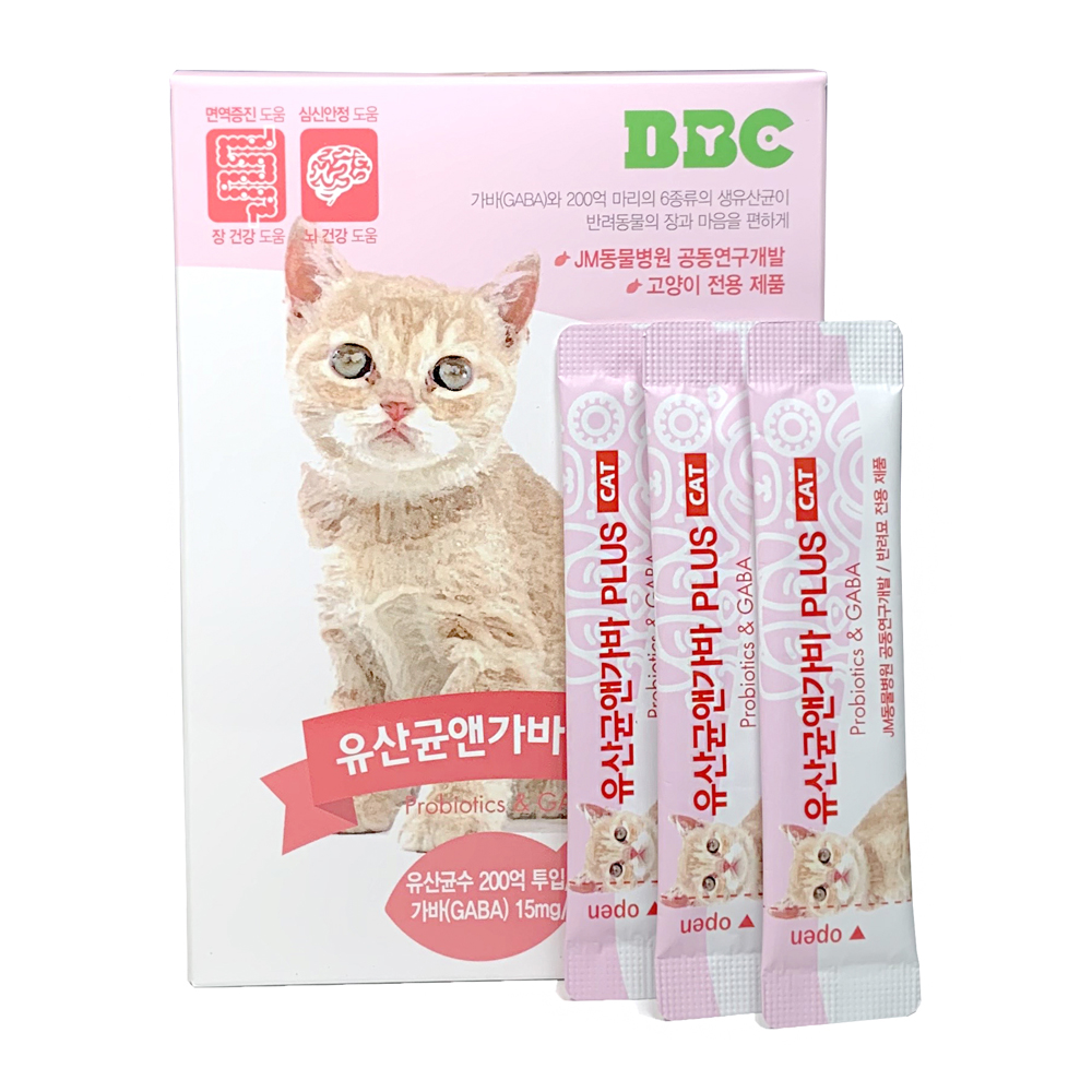 BBC 유산균 앤 가바 PLUS 고양이용 영양제, 2g, 30개입