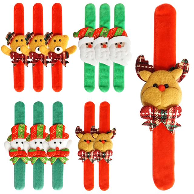 불빛 크리스마스 손목밴드 곰돌이 3p + 산타 3p + 루돌프 3p + 눈사람 3p 세트, 혼합색상, 1세트