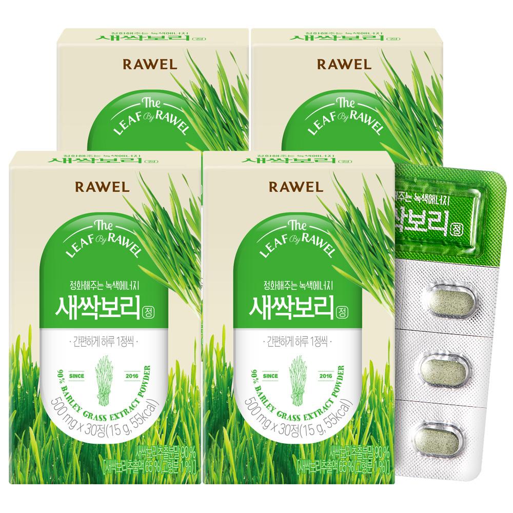 로엘 새싹보리정, 30정, 4개