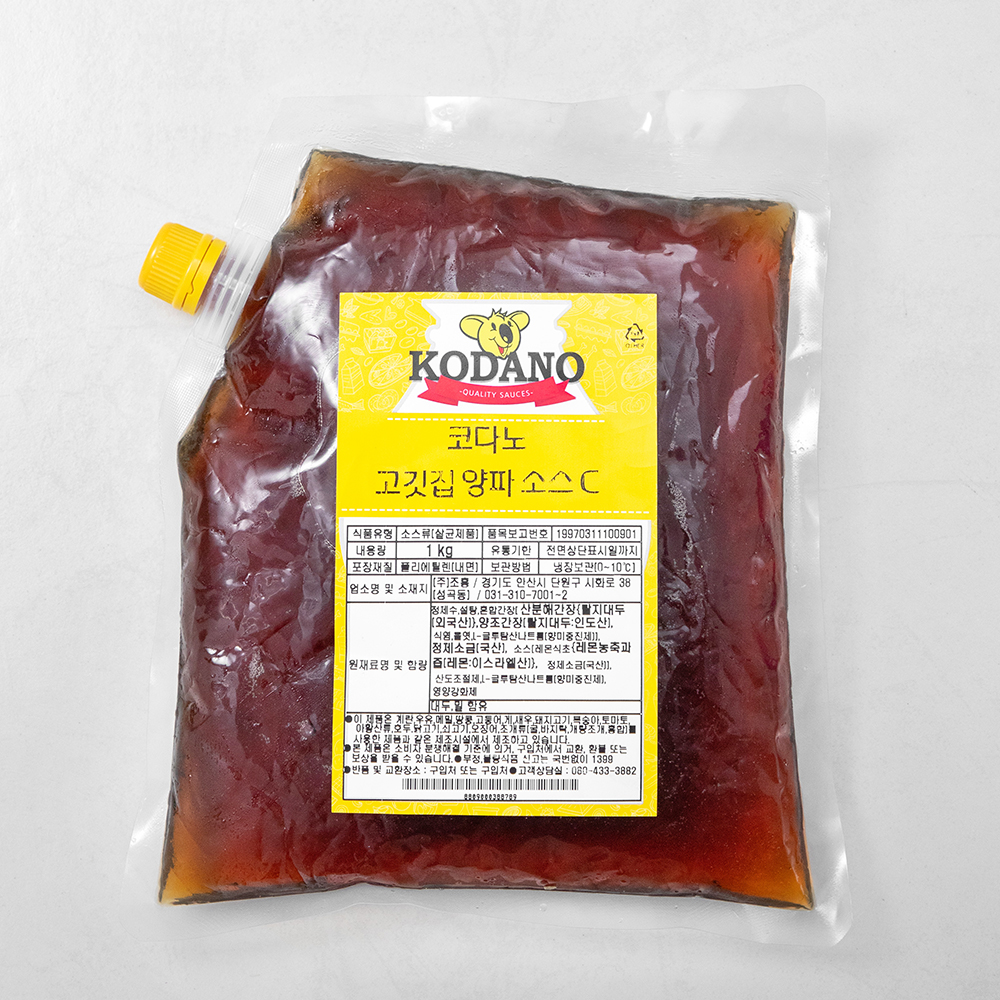 코다노 고깃집 양파 소스 C, 1kg, 1개