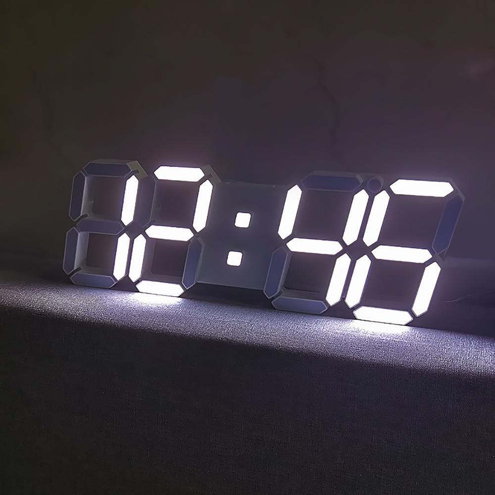 홈플래닛 리모컨 빅 3D LED 벽시계, 단일색상
