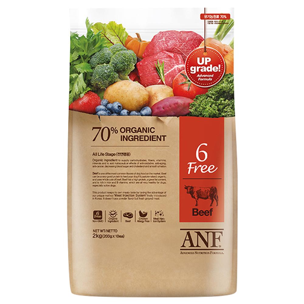 ANF 전연령 식스프리 소고기 건식사료, 2kg, 1개