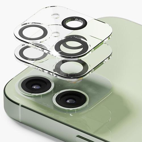 신지모루 빛번짐 방지 카메라 렌즈 강화유리 보호필름 2p 세트, 1세트