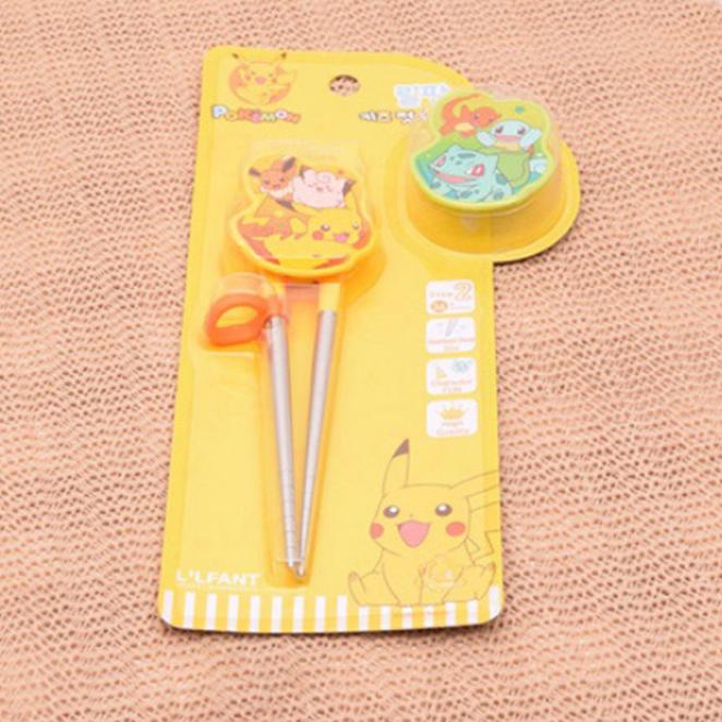 릴팡 포켓몬스터 체인지 교정용 스텐젓가락 2단계 POK6523, 노란색, 1개