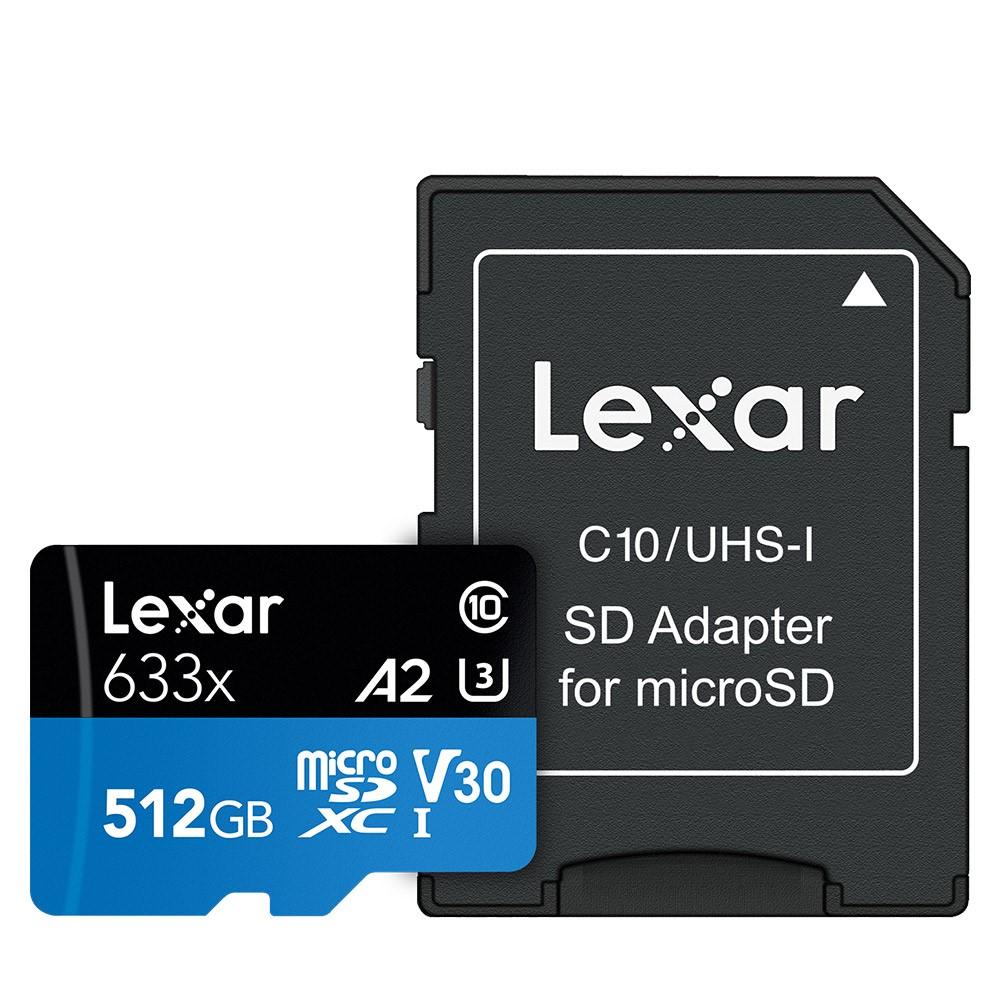 렉사 high Performance microSDHC 633배속 메모리카드 mirco SDXC UHS-I cards 633x, 512GB