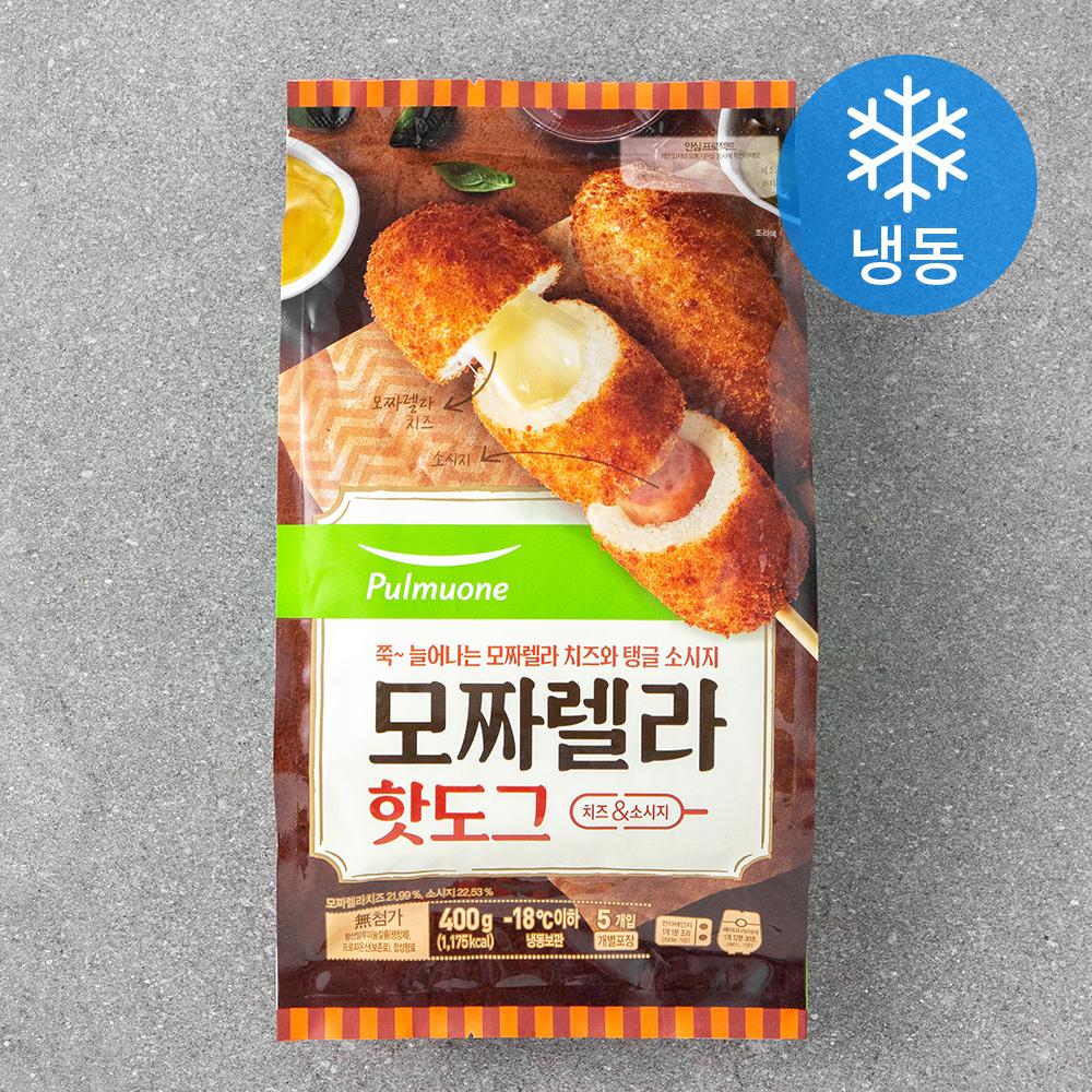 풀무원 생가득 모짜렐라 핫도그 (냉동), 80g, 5개