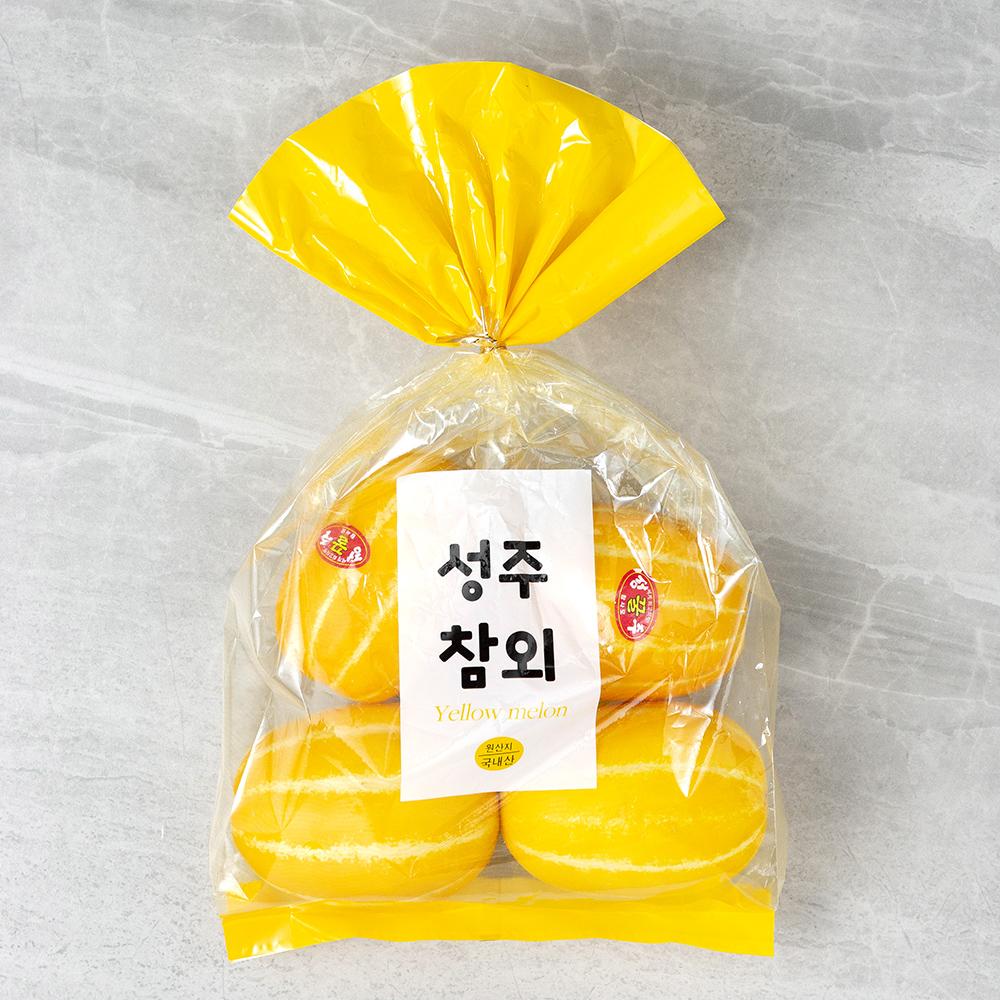성주 노란참외 중과, 1.2kg (4~6과 내외), 1봉