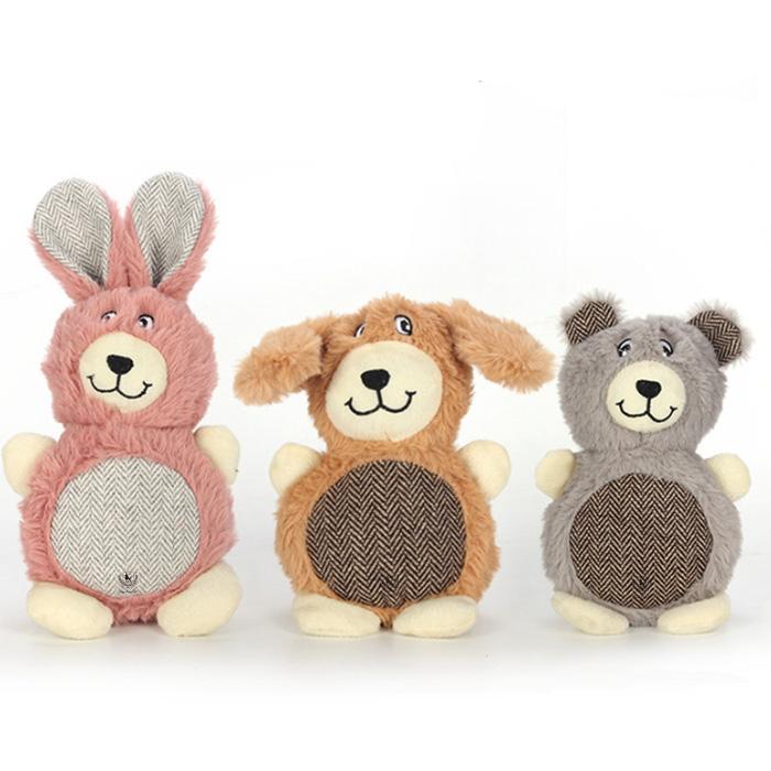 딩동펫 반려동물 숏다리 동글이 장난감 3종 세트, 혼합색상, 1세트