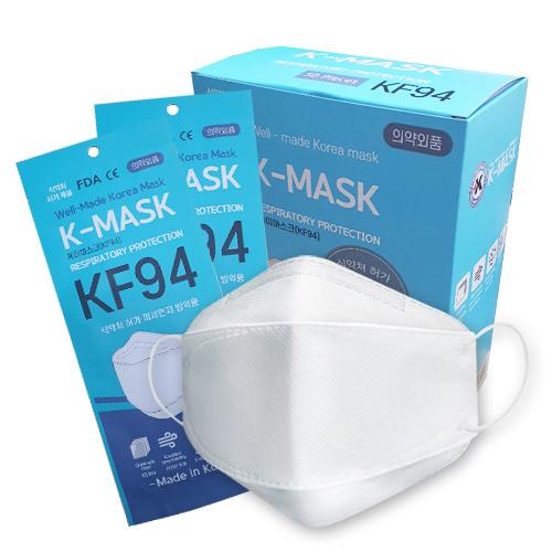 케이마스크 대형 KF94 화이트, 1개입, 50개