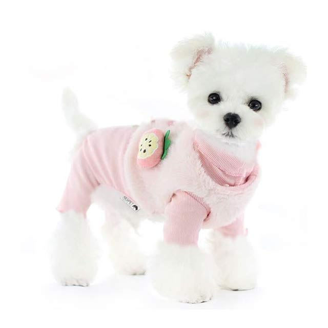 리스펫 올인원 프룻베스트 강아지옷, 핑크