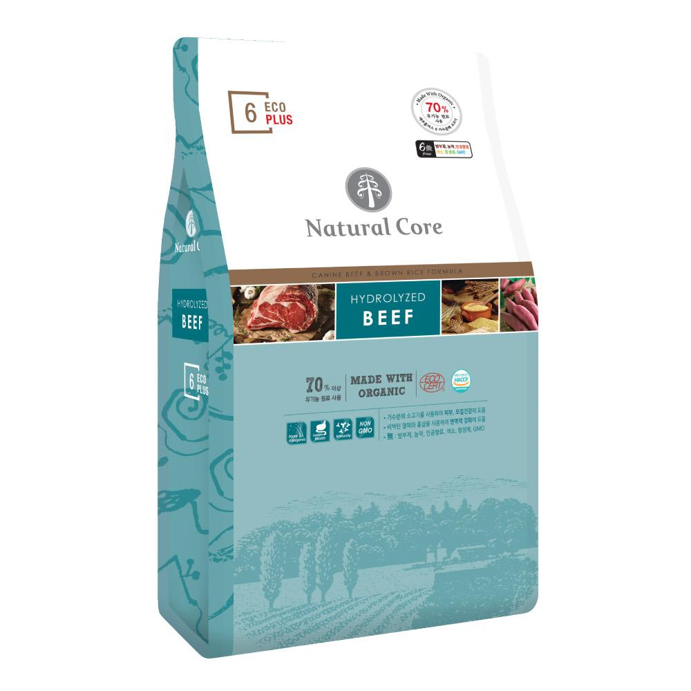 네츄럴코어 에코플러스6 유기농 6Free 반려견사료 소고기, 7kg, 1개