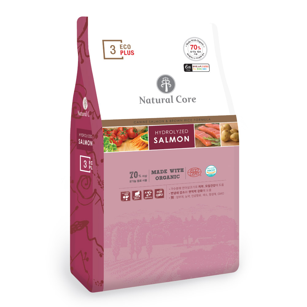 네츄럴코어 전연령 에코플러스3 유기농 건식사료, 생선, 2kg, 1개