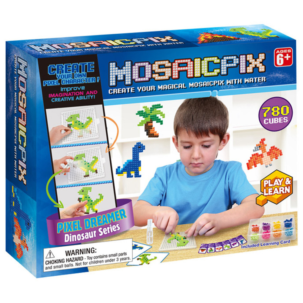 MOSAICPIX 공룡 시리즈 유아비즈DIY세트 BD55002, 혼합 색상