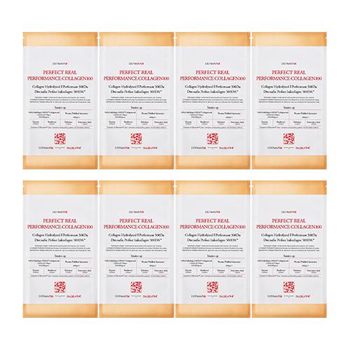 더마픽스 퍼펙트 리얼 퍼포먼스 콜라겐 100 마스크팩, 8개, 1박스