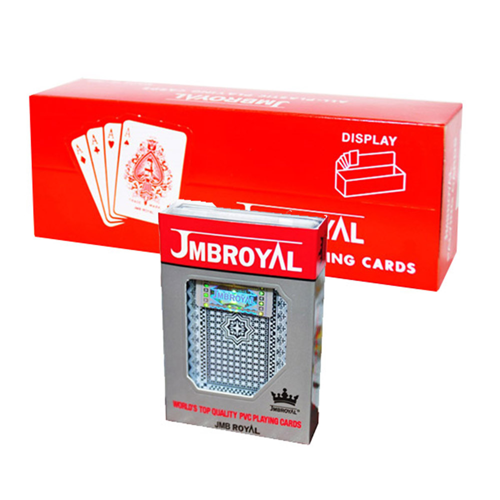 JMBROYAL 플라스틱 플레잉카드 브릿지 사이즈 12p, 제비무늬, 별무늬