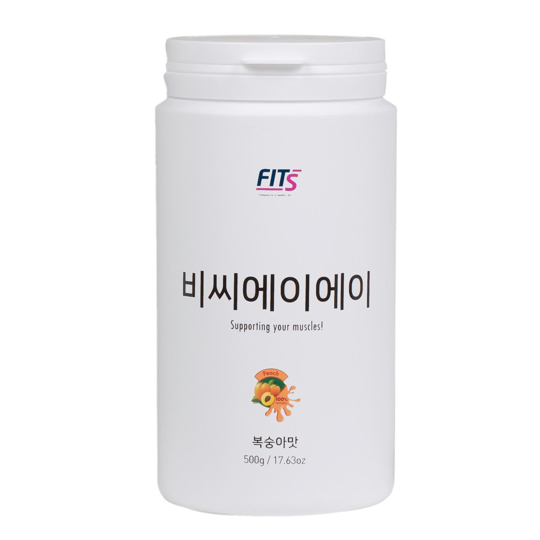 핏츠 단백질 보충제 쉐이크 BCAA 복숭아 핏츠 + 쉐이커 + 스푼 + 파우치, 500g, 1개