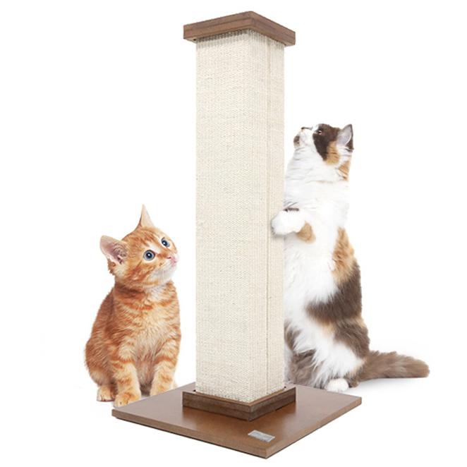 피카노리 고양이 스크래쳐 기둥형, 크림화이트, 1개