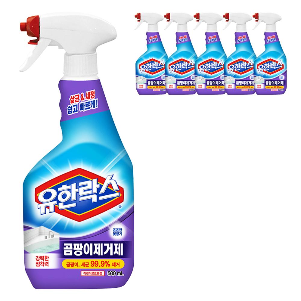 유한양행 유한락스 곰팡이제거제, 500ml, 6개입