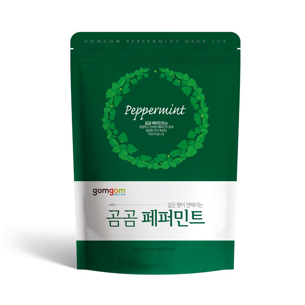 곰곰 페퍼민트 삼각티백, 1.5g, 100개입