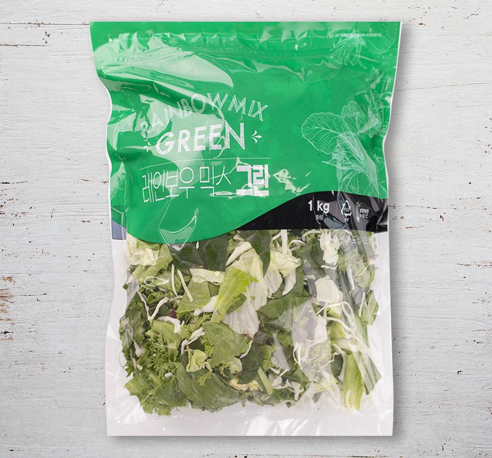 팜에이트 레인보우믹스 그린, 1kg, 1팩