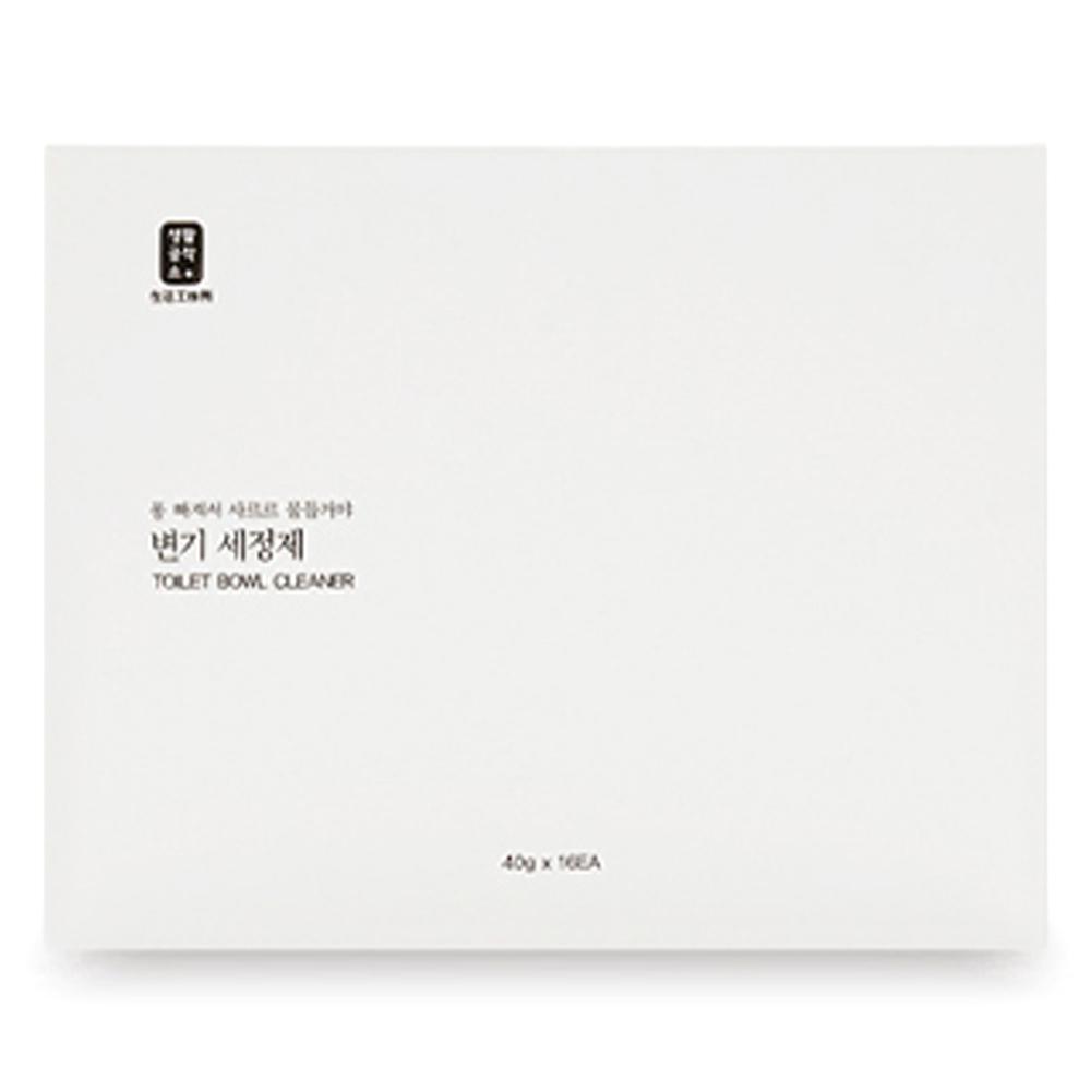 생활공작소 변기 세정제 16p, 640g, 1박스