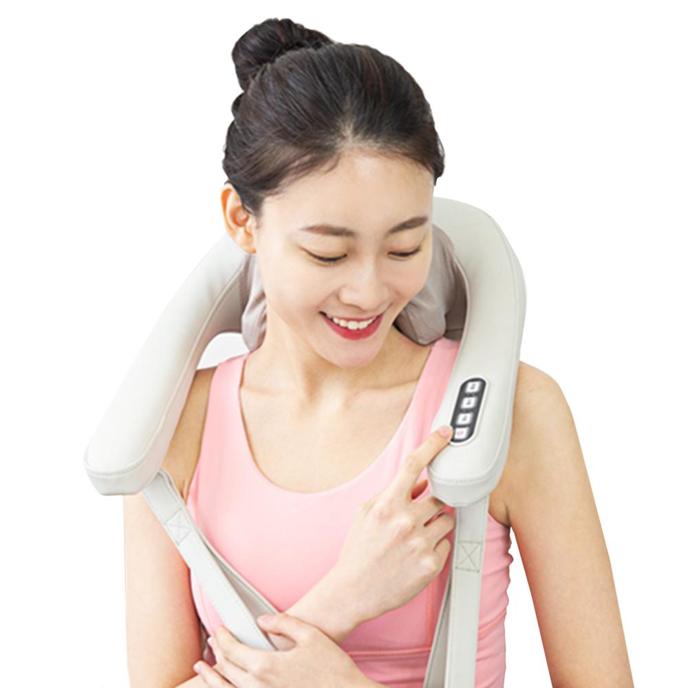 오아 넥엔숄더 안마기 온열 목 어깨 마사지기 OA-MA010, OA-MA010(베이지)