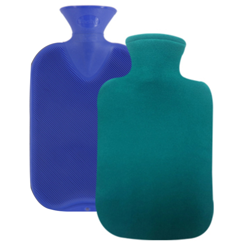 파쉬 양면빗살 핫팩 물주머니 2L 랜덤 발송 + 도톰폴리커버 블루, 1세트