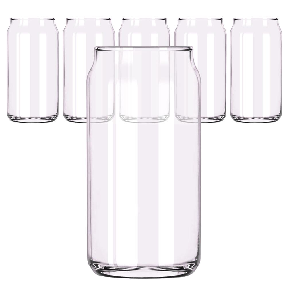 삼호유리 비어 캔 글라스 컵 475ml, 6개입