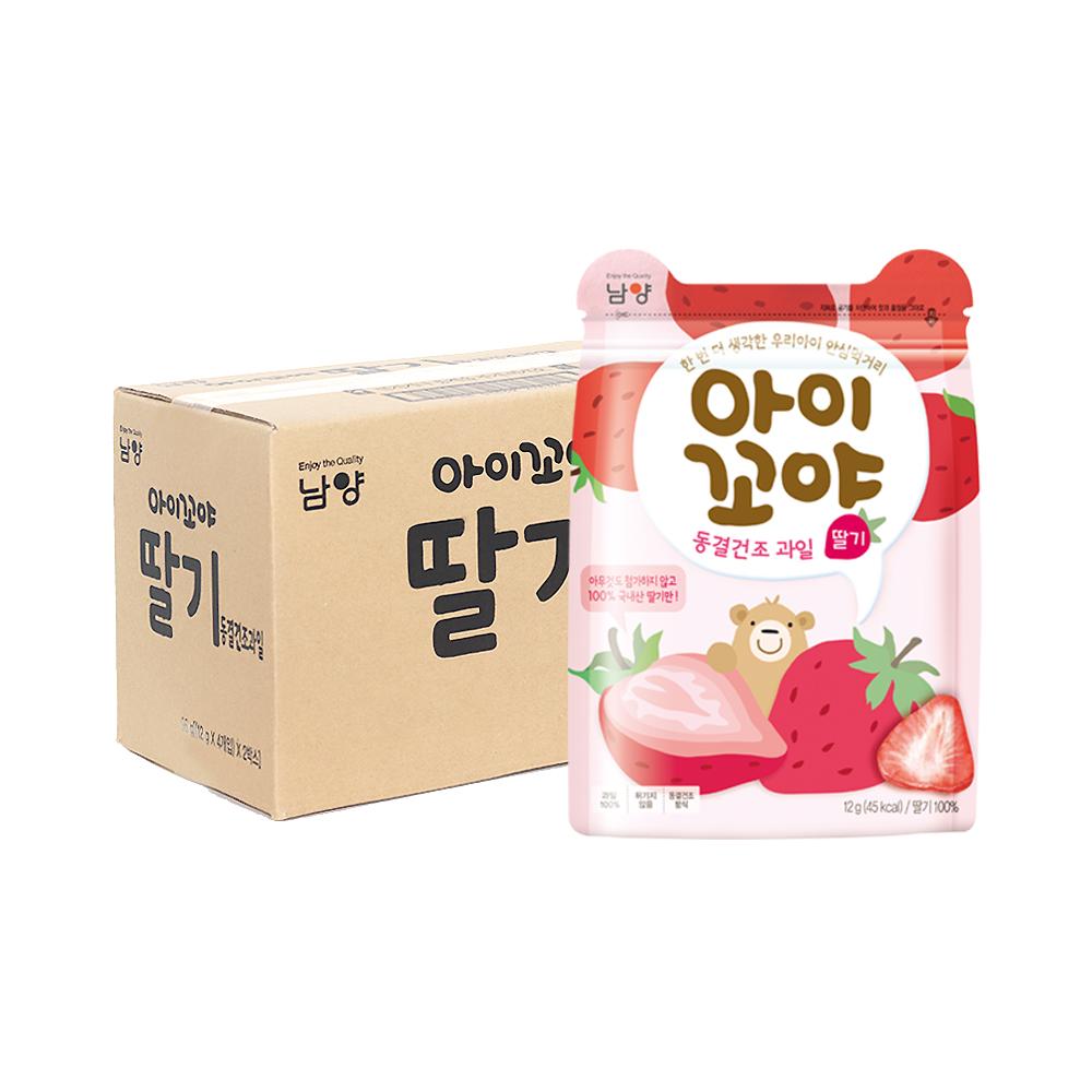 남양유업 아이꼬야 동결건조 과일칩, 딸기, 8개